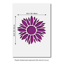 large sunflower stencil reusable