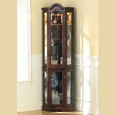glass curio display cabinet ikea detolf light brown black corner glass curio display cabinet detolf black door collectible