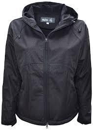 pulse womens plus size hooded soft shell jacket black 1x 6x
