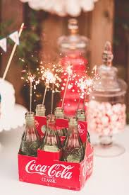 131 best patriotic wedding images on pinterest blue weddings Ideas For July 4th Summer Wedding fun memorial day backyard wedding vintage coke bottles with sparklers · fourth of july4th 4th of July Wedding Centerpieces