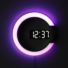 <b>3D LED Digital</b> Table Clock Alarm Mirror Hollow Wall Clock Modern ...