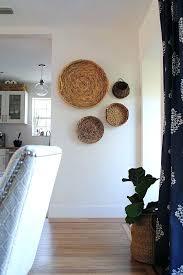 woven basket wall art woven basket wall decor vintage rattan wicker round hanging