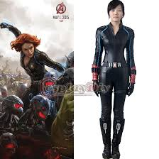 2016 new the avengers 2 age of ultron black widow costume outfit natasha romanoff tight y jumpsuit cosplay costume costume theme