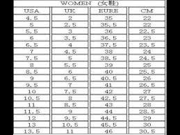 Nike Com Shoe Size Chart Nike Shoes Size Chart Youtube