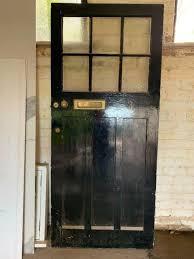 period solid wooden front door