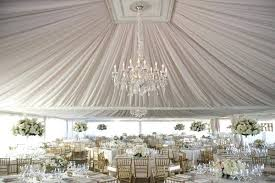wedding tent decor party decorating a for chandelier decorations fabric decorate