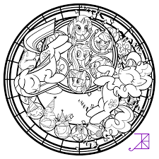 Small Picture Pinkie Pinkamena Stained Glass Vector line art by Akili Amethyst