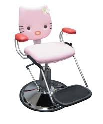 picture of pink kitty 2 hot pink hair styling chair for kids
