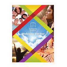 Church Welcome Brochure Samples Folder Template Colorful Church Welcome Packet Folder Design