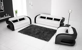 black and white modern furniture. Free Shipping 2013 New Classic Black \u0026 White Genuine Leather Solid Wood Frame Modern Sofa Set And Furniture L