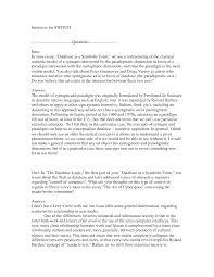 Template Interview Essay Examples Apa Format Yanabeealiraqcom