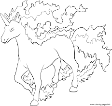 Small Picture 078 Rapidash Pokemon Coloring Pages Printable