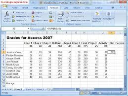 auto sum in excel 2007
