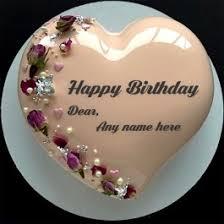 Write Name On Birthday Cake Anniversary Cake Greeting Card Images