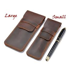 Leather <b>Pencil Case Pencil Pouch</b> Handmade Genuine Leather <b>Pen</b> ...