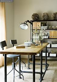 industrial home office desk. office gas pipe and wood desk industrial diy furniture home