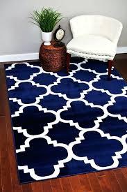 navy geometric rug