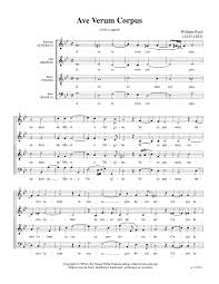 ave verum corpus sheet music ave verum corpus byrd william imslp petrucci music library