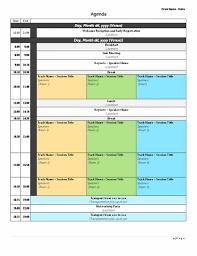 sample meeting schedule agenda template