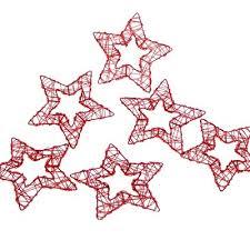 Sterne Aus Draht Moderne Drahtsterne Glänzend Rot Offen 75 Cm Ve 6 Stück Für Adventskänze Und Weihnachtsdekoration
