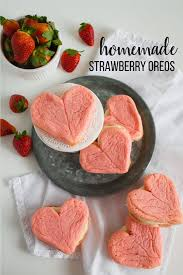 Strawberry Cake Mix Cookies With Cream Cheese Frosting