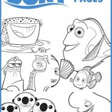 Cozy Finding Nemo Coloring Sheets Page Pages Free Printable Ideas