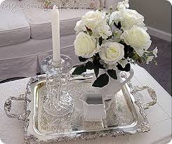 Decorating With Silver Trays Awesome Silver Tray Coffee Table With Home Interior Remodel Ideas 25