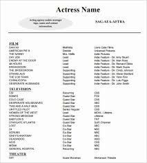 Theatre Resume Templates Magnificent Resume Format Pdf Alive Technical Theatre Resume Templates Eczalinf