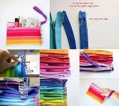 colored zipper pouch diy