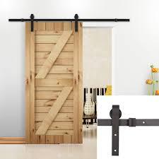 amazon u max 8 ft sliding barn wood door basic sliding track hardware kit home improvement
