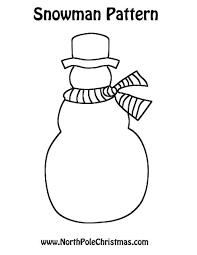 Free Craft Printables Templates Snowman Craft Printable Template Free Snowman Outline