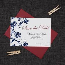 Red Save The Date Cards The Classic Navy Blue Red Save The Date