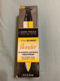 john frieda sheer blonde go blonder in shower lightening treatment 1 15fl oz new
