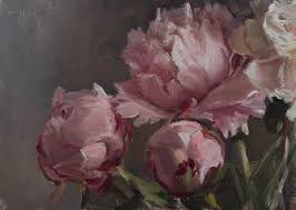 daily painting titled peonies