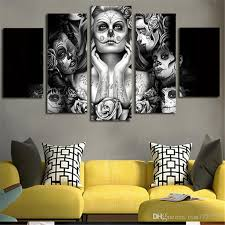 home decor sugar skull girl picture painting wall art room decor poster wall decor canvas gift painting without frame home decor skull painting wall art  on house wall art painting with home decor sugar skull girl picture painting wall art room decor