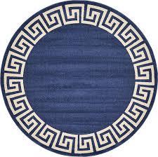 round blue rug. round blue rug