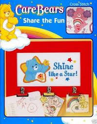 Details About Care Bears Share The Fun Cross Stitch Chart Pattern Craft Idea Book Out Of Print