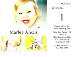 baby 1st birthday invitation card