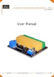 ir 4c 4 channel ir remote control relay board user manual 4 channel ir remote control relay board user manual iknowvations 2013 doc ir4c um rev1 0 1 7iknowvations