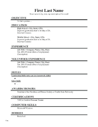 Basic Resume Template Basic Resume Examples Example Of A Simple Easy