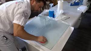 tempered glass scratch repair