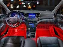 Interior led lighting Car 4pc Red Led Car Interior Lights Led Interior Light Kits For Cars By Ledglow