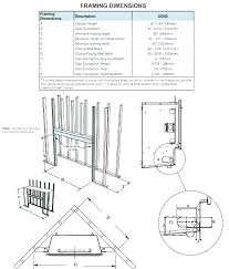 gas fireplace dimensions gas fireplace framing