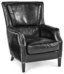 impressive black armchair alfred rustic lodge vintage black leather armchair rustic