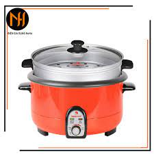 Nồi lẩu điện 3.5L Happycook HCHP-360SR có xửng hấp, lòng nồi rời dễ vệ sinh  (Giao màu ngẫu nhiên), bảo hành 12 tháng - Nồi lẩu điện Nhãn hàng Happy cook
