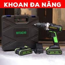 Máy khoan Pin cầm tay HITACHI 28v giá rẻ - máy bắt vít giá rẻ - khoan gỗ - bắt  vít - bắn tôn