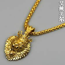 real gold chains with pendants photo 1