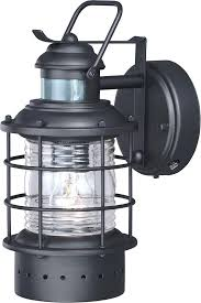 outdoor wall lights with photocell light led steinel lantern pir