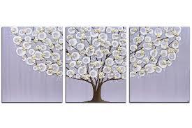 nursery art lavender and khaki flowering tree