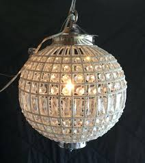 ethan allen chandelier large faux crystal silver new beautiful zoe